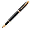 Ручка-роллер Parker IM Metal, Black GT, черный стержень