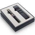 Подарочный набор перьевая ручка с позолотой и чехол