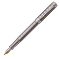 Перьевая ручка Parker Duofold Prestige Ruthenium Chiselled CT
