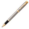 Ручка-роллер Parker IM Metal, Brushed Metal GT, черный стержень