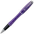 Ручка-роллер Parker Urban Premium Vacumatic Amethyst Pearl, черный стержень