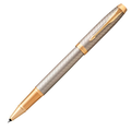 Ручка-роллер Parker IM Premium Warm Silver GT, черный стержень